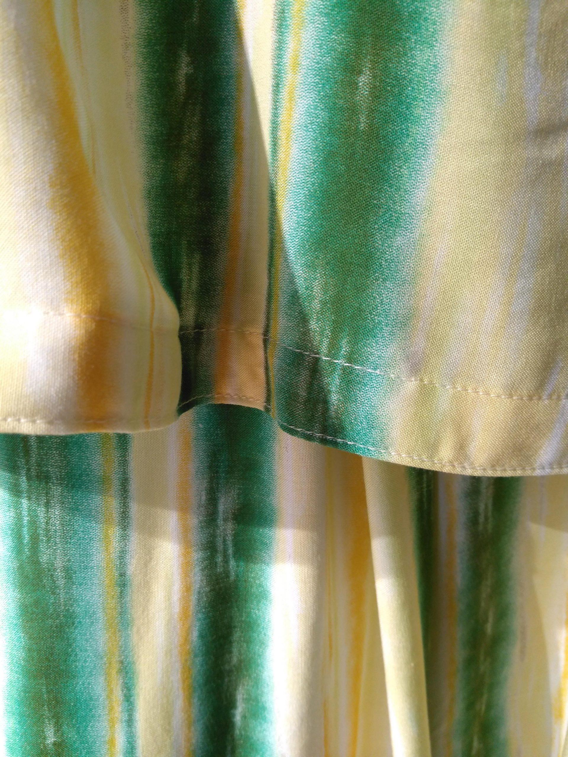 Detalj, klänning i thaisilke, Sisa Långkvist
